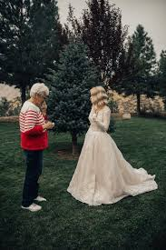 Wedding Dress Chord Bride Surprises Her Grandmother By Wearing Her Wedding Dress From