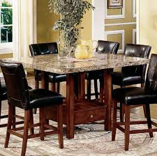 dining room espresso finish tall kitchen table and chairs set
