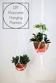 modern hanging planters diy macramé hanging planter