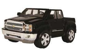 toddler motorized car rollplay chevy silverado 12 volt ride on black toys