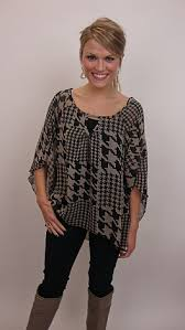 houndstooth blouse houndstooth blouse tops the blue door boutique