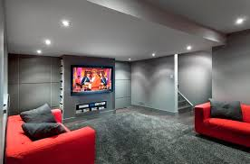 modern basement design absolutely ideas modern basement 22 finished contemporary design