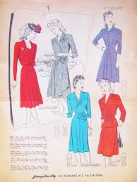 Sewing Patterns For Home Decor Pintucks Wwii Fashions Spring Of 1942 Sewing Patterns