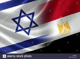 Egypts Flag Merged Israeli And Egyptian Flag On Satin Texture Concept Of The