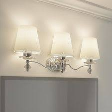 Westmore Vanity Lighting Westmore Lighting Colchester 3 Light 11 In Brushed Nickel Bell Led