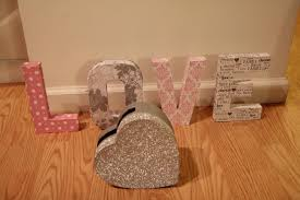 diy paper mache letters mikado weddings