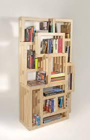 elm tree bookshelf wall shelves for books wood material oiled