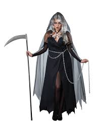 grim reaper costume women s plus size reaper costume
