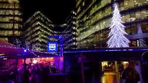 london christmas lights walking tour london walk christmas by the river at london bridge city england