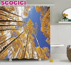 compare prices on cloud forest trees online shopping buy low forest home decor shower curtain tall aspen trees to clouds in fall regional sun burst wilderness