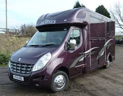 renault purple custom purple horsebox with stripes