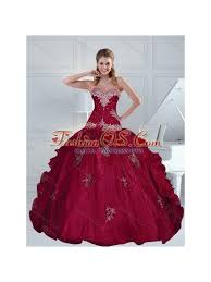 burgundy quince dresses modest appliques and beading burgundy quince dresses