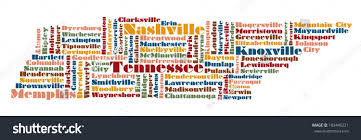 State Map Of Tennessee by Word Cloud Map Tennessee State Usa Stock Illustration 103446221