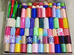 printed ribbons 89meters printed ribbons mixed organza satin grosgrain ribbon set
