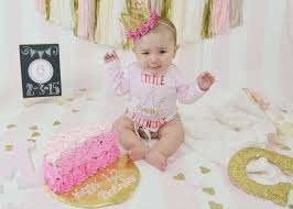6 month cake smash for my baby pinterest cake smash half