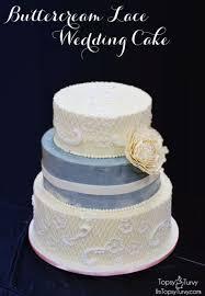 buttercream lace wedding cake ashlee marie