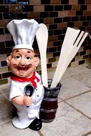 home design bistro fat chef kitchen decor figurine wall