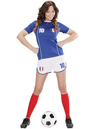 Flag Football Set For Adults France Football Kit For Women Adults Costumes And Fancy Dress
