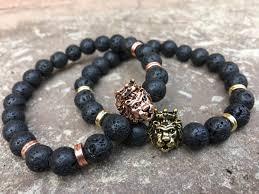 bead bracelet set images 2 pc set lion bracelets king and queen beaded bracelet set jpg
