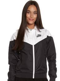 windrunner jacket in black white glue store