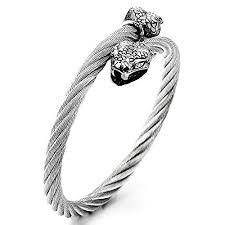 snake bangle bracelet images Mens snake bangle stainless steel twisted cable cuff jpg