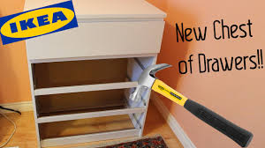 constructing ikea chest of drawers weeklies 1 youtube