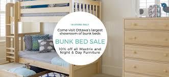 Maxtrix Bunk Bed Maxtrix Night And Day Furniture Bunk Bed Sale In Ottawa Sleepy