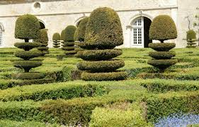 villandry chateau and its garden loire valley france one