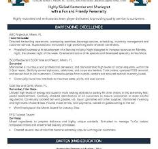Resume Examples For Bartender by Stylish Inspiration Bartender Resume Examples 4 Resume Resume
