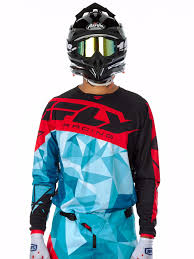 fly motocross helmet fly racing teal black red 2017 kinetic crux mx jersey fly racing