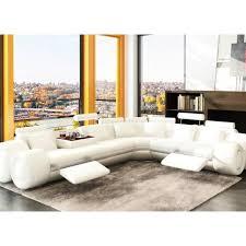 canape d angle design cuir canapé d angle design en cuir blanc avec 2 relax achat vente