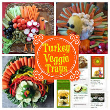 veggie trays that look like tom turkey thanksgiving