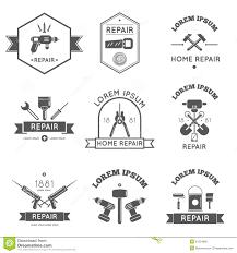 Home Improvement Logo Design Home Repair Tools Labels Flat Stock Vector Image 51554006