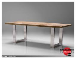 stainless steel and wood dining table with inspiration ideas 7743