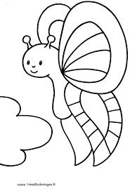 Coloriages pour les 3  4 ans  Joli papillon a imprimer