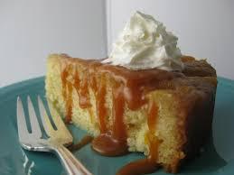 mandarin upside down cake with salted orange caramel sauce livemore