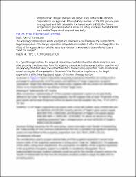 tax consequences of a type b reorganization acquired corporation u0027s