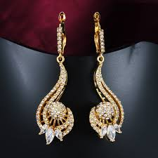 beautiful gold earrings images gold earrings for women the beautiful melody lines