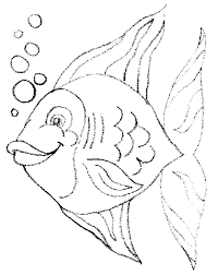 coloring book pages print kid print fish fish