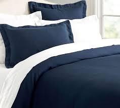 Pottery Barn Down Comforter Belgian Flax Linen Duvet Cover Sham White Pottery Barn Blue Best