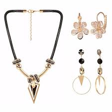 danglers earings indian jewelry combo of stylish statement necklace