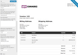woocommerce print invoices packing lists docs shipping invoice