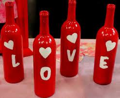 diy valentine u0027s day wine bottle decoration