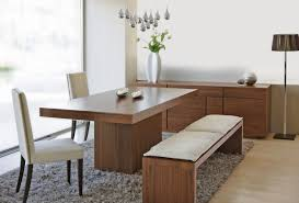 cool dining rooms bench wonderful modern kitchen table with bench ba chunky dining