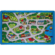 Rugs For Kids Playroom by Mybecca Kids Rug Street Map In Grey 5 U0027 X 7 U0027 Children Area Rug For