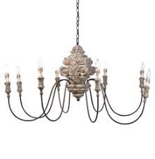 French Wooden Chandelier Designer Chandeliers Eclectic Chandeliers Kathy Kuo Home