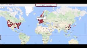 Supercharger Map Tesla Superchargers Network Animation 4 Years In A One Minute