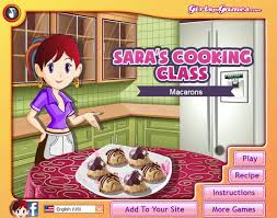 girlsgogames cuisine s cooking class macarons a free for on