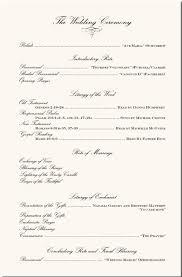 wedding program format exles wedding ceremony program wedding program exles wedding program