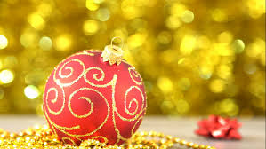 New Year Decoration Pics by Christmas Red With Golden Pattern Ball Swinging New Year